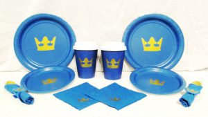 Royal Blue Prince Baby Shower Plates ...