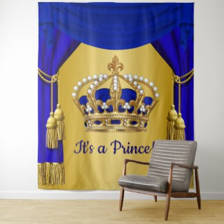 royal prince baby shower backdrops