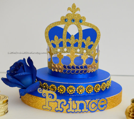 royal prince baby shower centerpieces