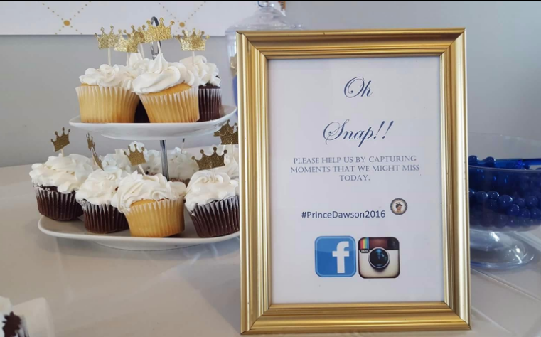 royal prince baby shower cupcakes