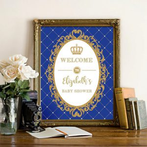 royal prince baby shower decoration
