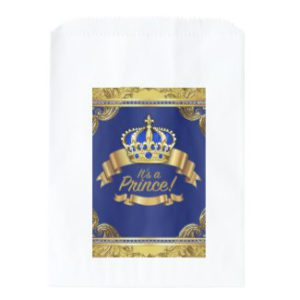 royal prince baby shower favor bags