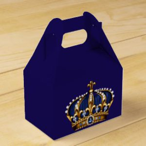 royal prince baby shower favor boxes