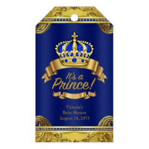 royal prince baby shower favor tags
