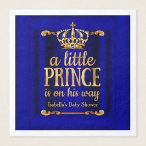 royal prince baby shower napkins