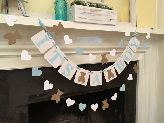 baby boy shower banner