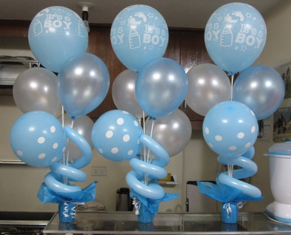 baby shower balloon decorations for boys
