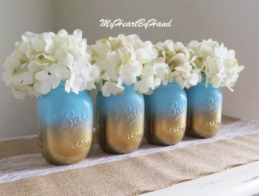 baby shower mason jar centerpieces