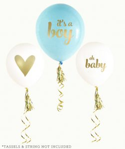its a boy baby shower balloons