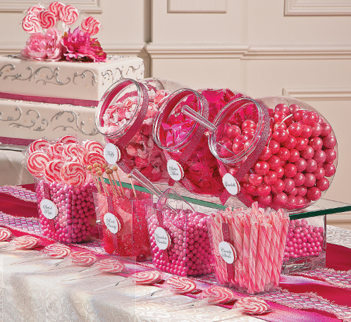 pink baby shower candy
