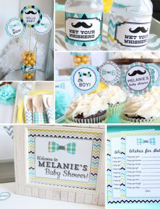 printable baby shower decorations for boys