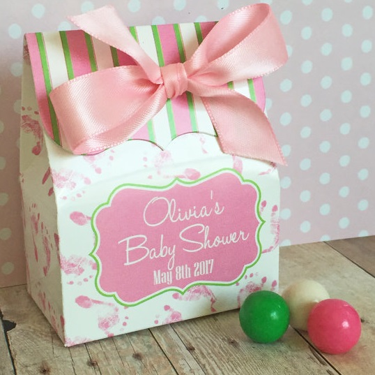 baby shower favor boxes for girl