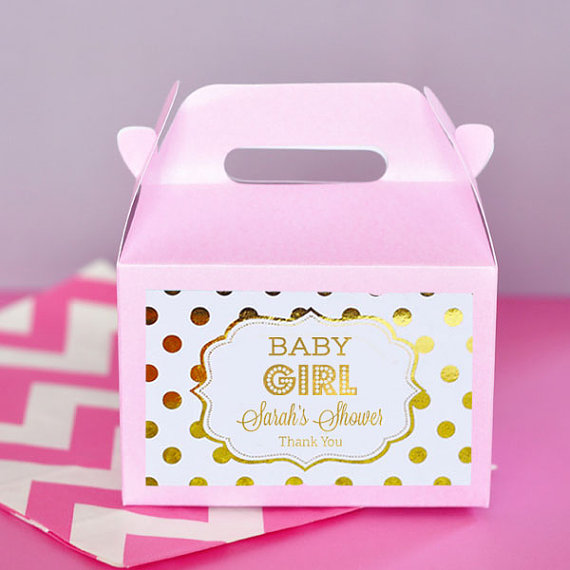 baby shower favor boxes for girls
