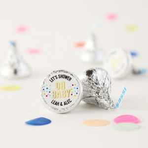 personalized baby shower hershey kisses
