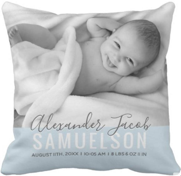 personalized baby pillow for boy