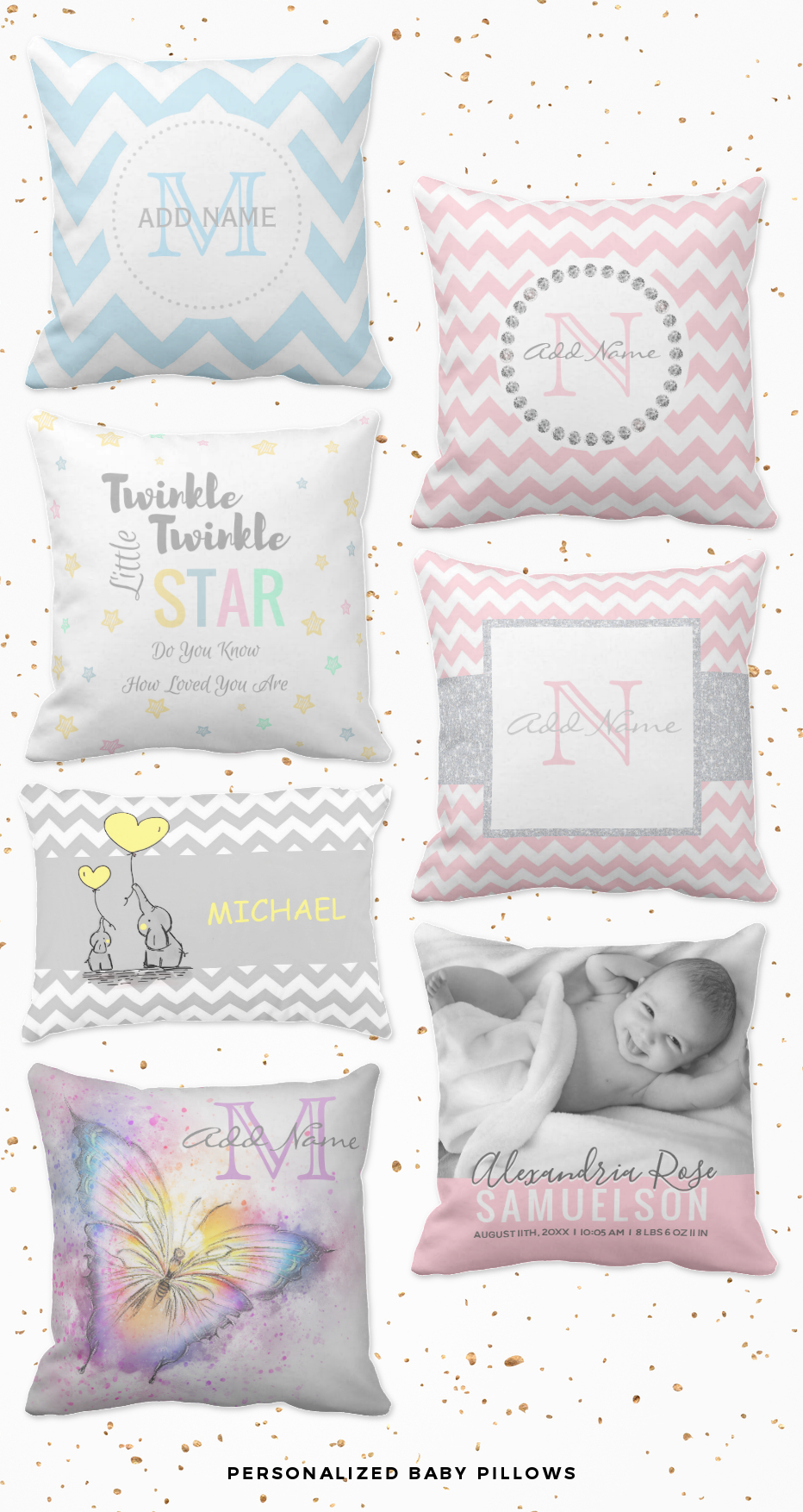 personalized baby pillows for girls